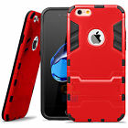 For iPhone 6 6S 7 Plus Shockproof Hybrid Rubber Hard Case Cover with Kick-Stand
