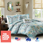 tamil new movies full 2013 - Blue & White Reversible Comforter Set [Bedding Bed] Tamil Paisley Pattern Design