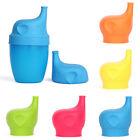 Cute Silicone Sippy Lids Turns Cup into Elephant Shape Sippy Spill Proof Cup