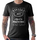 Vintage Aged to Perfection 1977 40th Birthday Present T Shirt 40 Years Old Gift