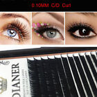 Mink Individual False Eyelashes Fake Eye Lashes Semi Permanent Extensions
