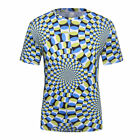 Logas Men's Animated and 3D Printing T-Shirt Tops Short Sleeve Cycling Jersey