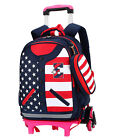 Boys Trolley backpack Girls Rolling School bag Travel Luggage Suitcase On Wheels