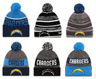 LA Chargers Cuffed Beanie Knit Winter Cap Hat NFL Authentic $29.99 USD on eBay