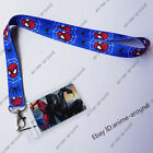 Marvel Spider-Man Neck Strap Lanyard ID Badge Charms KeyChain Cosplay Gift +Card