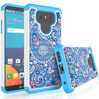 For LG G6 + Phone Pattern Hybrid Shockproof Rubber Sturdy Dual Layer Case Cover