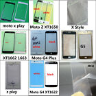 New Outer Front Screen Glass Replacement Kit For Motorola Series Phone + Tools
