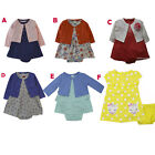 Carter's baby girls 2 pc dress cardigan clothing outfit size 3 6 9 12 18 months