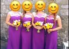 Bridesmaid dresses, purple with white detail, only wore once