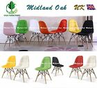 MOF Eiffel Retro Plastic Padded Seat Dining Office Lounge Chair (Button)