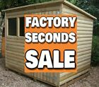 Pent Style Garden Shed (FACTORY SECONDS SALE) Tanalised Treated Timber Hut