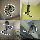 Retro Loft Black Spiral Pendant Light Metal Ceiling Lamp Chandelier Fixtures