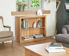 Oxford Solid Oak Furniture Low Bookcase Shelf Office Study