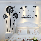 Dandelion 3D DIY TV Sofa Background Bedroom Wall Stickers Acrylic Pmma Mural