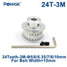 24 Teeth HTD 3M Timing Pulley Bore 5/6/6.35/8mm for Width 10mm 3M Open Belt 24T