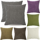 "2 Pieces 18'' X 18"" Cushion Covers Throw Pillow Cases Soft Corduroy Corn Shells"