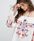 FREE GIFT + VTG ENCHANTED FLORAL EMBROIDERY PRINT MINI DRESS BLOUSE JACKET TOP