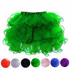 8 Colors Multi Layered Ruffle Mini Skirt Tutu Costume Petticoat Size S-2XL