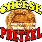 Cheese Pretzel DECAL (Choose Your Size) Food Truck Sign Sticker Concession