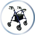 Lightweight 4 Wheel Folding Mobility Rollator Walker With Seat And Bag Zimmer