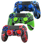 Silicone Cover Case + 2 JoyStick Caps for Sony Playstation 4 PS4 Controller Hot