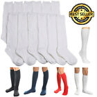 6 12 Pairs Knee High Uniform School Socks Womens Girls Junior Plain Jacquard