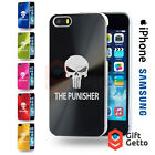 The Punisher Figure Logo Engraved CD Phone Cover Case - iPhone & Samsung Models