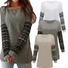 UK Fashion Womens Plus Size Casual Loose Long Sleeve Ladies T-Shirt Tops Blouse