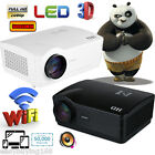 WIFI LED 1080P HD 3D Projector Home Cinema Theater for IPHONE Android 2000:1 US