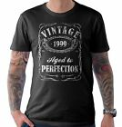 Vintage Aged to Perfection 1999 18th Birthday Present T Shirt 18 Years Old Gift