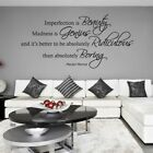 Imperfection is Beauty, Madness is Genius... - Marilyn Monroe Wall Quote, Wall A