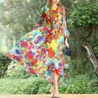 Hot Womens Dress Long Sleeves mulberry Silk Floral Printed Full Length Slim new