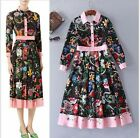 Fashion Womens Dress Printing flowers Runway skirts Occident New Year hot sell