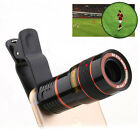 Clip-on 8X 12X Zoom Optical Universal Cell Phone Camera Lens Telescope Telephoto