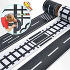 Внешний вид - New Kid Car Road Adhesive Tape Play Room Floor Sticker Removable Track Toy DIY G