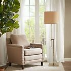 Luxury Slim & Modern Sutton Silver Adjustable Floor Lamp