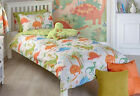 Dinosaur Design Duvet Set and / or Curtains Duvet Set Toddler, Single or Double
