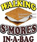 Walking S'mores in a bag DECAL (Choose Your Size) Food Truck Sign Concession