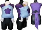 PURPLE BLUE BABY SLING STRETCHY WRAP FROM BIRTH UNIVERSAL BABY CARRIER FLOWER