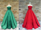 Strapless Red/Green Quinceanera Dress Formal Wedding Prom Evening Party Gown