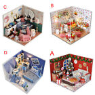 1pc Dollhouse Miniature Kit with Cover and LED Wood Toy DIY Dolls House Room