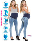 Maternal Pregnancy Stretch Push Up Jeans Skinny Ripped High Waist Denim Pants