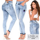 Booty Shaper Straight Colombian Jeans Cysm Black High Waist Levanta Cola Pants