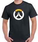 Overwatch Game Logo Gamer Gaming T Shirt Black Small to XXL