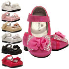 Baby Girls Bow Wedding Bridesmaid Party Shoes 9 12 15 18 Months