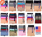 NWT Lot 6 Women One Size Seamless Boy shorts Panties Underwear Boxer Lingerie