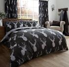 Stags Duvet Cover Set in Black, Grey and Beige by Gaveno Cavailia