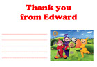 personalised photo paper card party birthday thank you notes TELETUBBIES #3