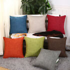 18Inch Linen Solid Pillow Case Sofa Waist Throw Cushion Cover Home Decor Dreamed