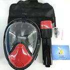 Diving Mask Full Face Anti Fog Snorkel Mask with Breathing Tube for Snorkeling